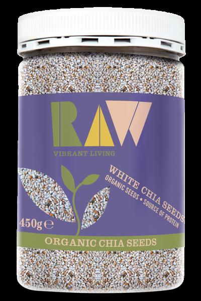 Raw White Chia Seeds image