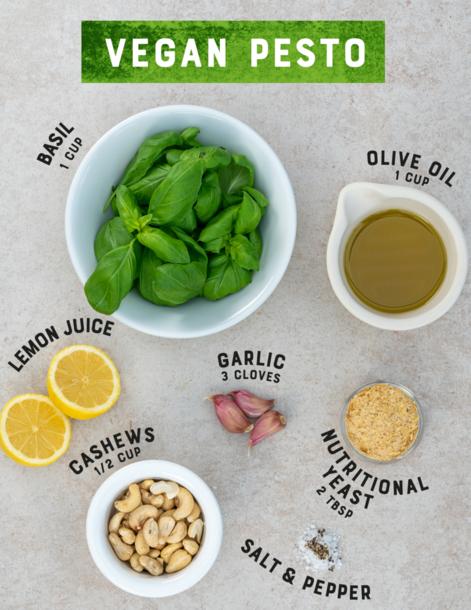 RAW organic vegan pesto