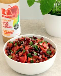 raw organic acv tomato salad immune boosting plant based