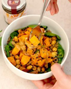 RAW organic vegan buddha bowl easy healthy meals